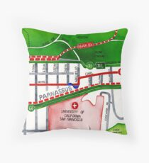 San Francisco map - Inner Sunset map Throw Pillow