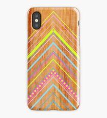 Wooden Chevron Pink iPhone Case/Skin