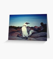 The Penguin Colony Greeting Card