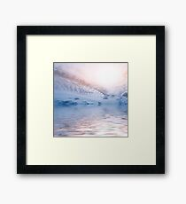 Sky Clouds Sun Ocean Abstract Background Framed Print