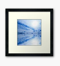 Sky ocean clouds abstract light blue background Framed Print