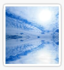 Sky ocean clouds abstract light blue background Sticker