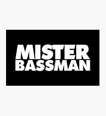 MISTER BASSMAN (white) Photographic Print