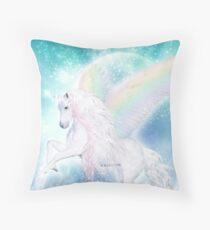 Rainbow Pegasus Throw Pillow