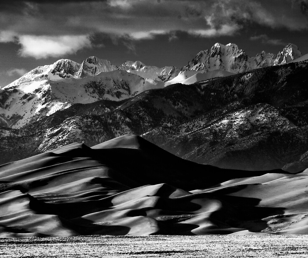 The Great Sand Dunes and Sangre de Cristo Mountains by James Egbert