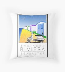 Scooter Poster Seasalter Throw Pillow