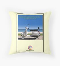 Scooter Poster Surf Scooter Society Throw Pillow