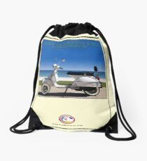 Scooter Poster Surf Scooter Society Drawstring Bag