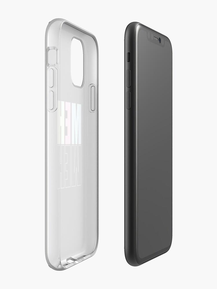 Coque iPhone «Meh Esthétique Pastel Typographie Design», par warddt