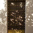 Soft Chocolate Shadows - Vintage Wooden Door Fortified with Brass Studs by Georgia Mizuleva
