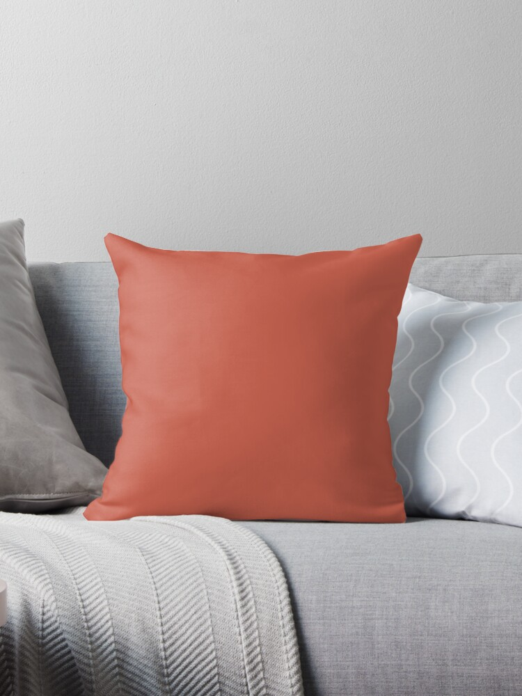 SOLID |PLAIN| DARK CORAL by ozcushions