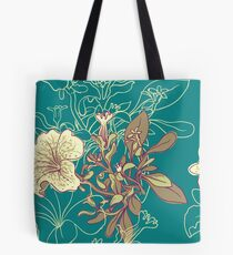 Seamless floral background with peonies Tote Bag