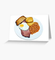 Gammon Egg and Beans Greeting Card
