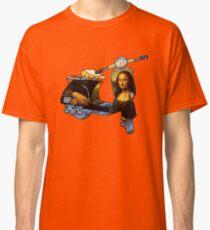 Mona Lisa Vespa scooter - Leonardo da Vinci,renaissance  Classic T-Shirt