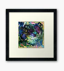 Malachite Cosmos Framed Print