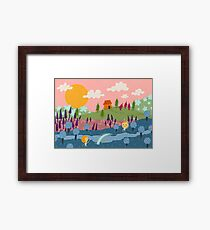 Welcome to Happyland Framed Print