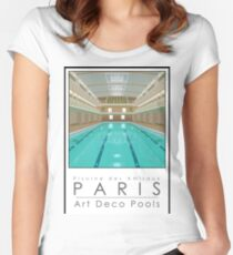 Lido Poster Amiraux Women's Fitted Scoop T-Shirt