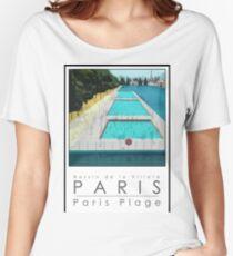 Lido Poster Paris Plage Women's Relaxed Fit T-Shirt
