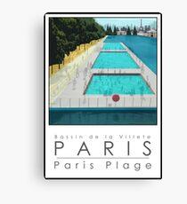 Lido Poster Paris Plage Canvas Print