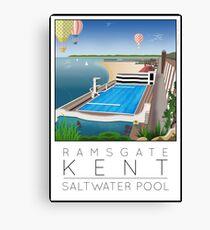 Lido Poster Ramsgate Canvas Print