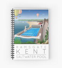 Lido Poster Ramsgate Spiral Notebook