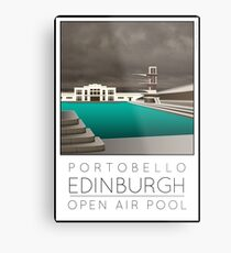 Lido Poster Edinburgh Portobello Metal Print