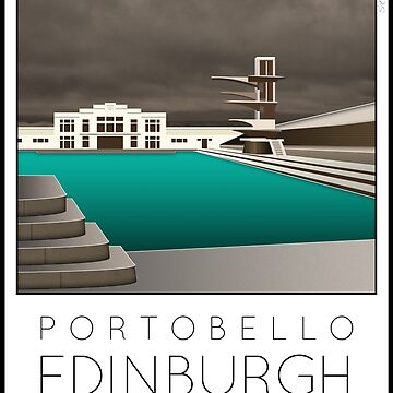 Lido Poster Edinburgh Portobello by stevenhouse