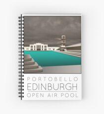 Lido Poster Edinburgh Portobello Spiral Notebook