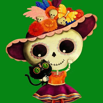 The Day of The Dead Sugar Skull Girl by colonelle