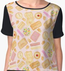 Biscuits In Bed - By Merrin Dorothy Women's Chiffon Top