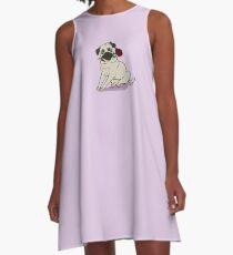 Charm Pug A-Line Dress
