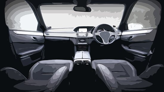Car Interior With Simple Design Posters By Grandgraphics Redbubble