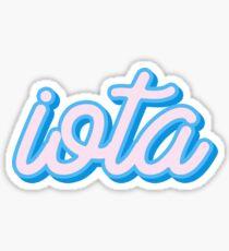 iota Sticker