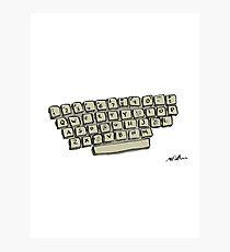 Sweary Keyboard F**k Photographic Print