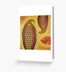 Paisley Pods Greeting Card