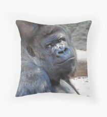 Portrait of a Silverback Throw Pillow
