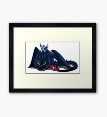 toothless&stitch Framed Print