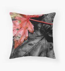 fallen autumn leaf ... Throw Pillow