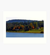 Autumn on Lake Campbell Art Print