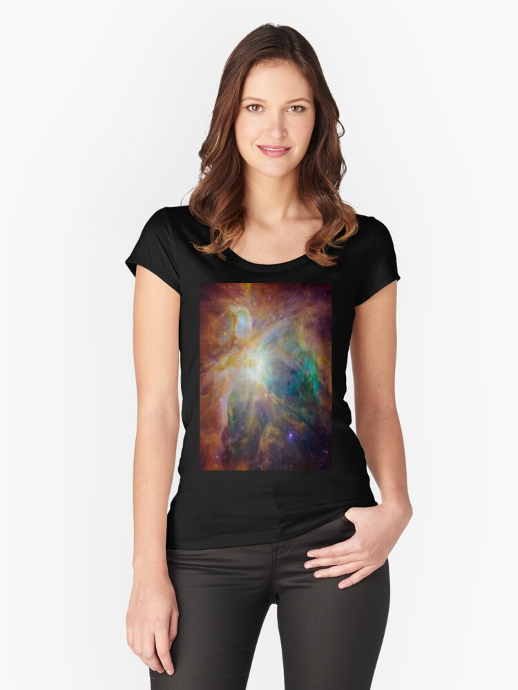 Galaxy Rainbow v2.0 Women's Fitted Scoop T-Shirt Front