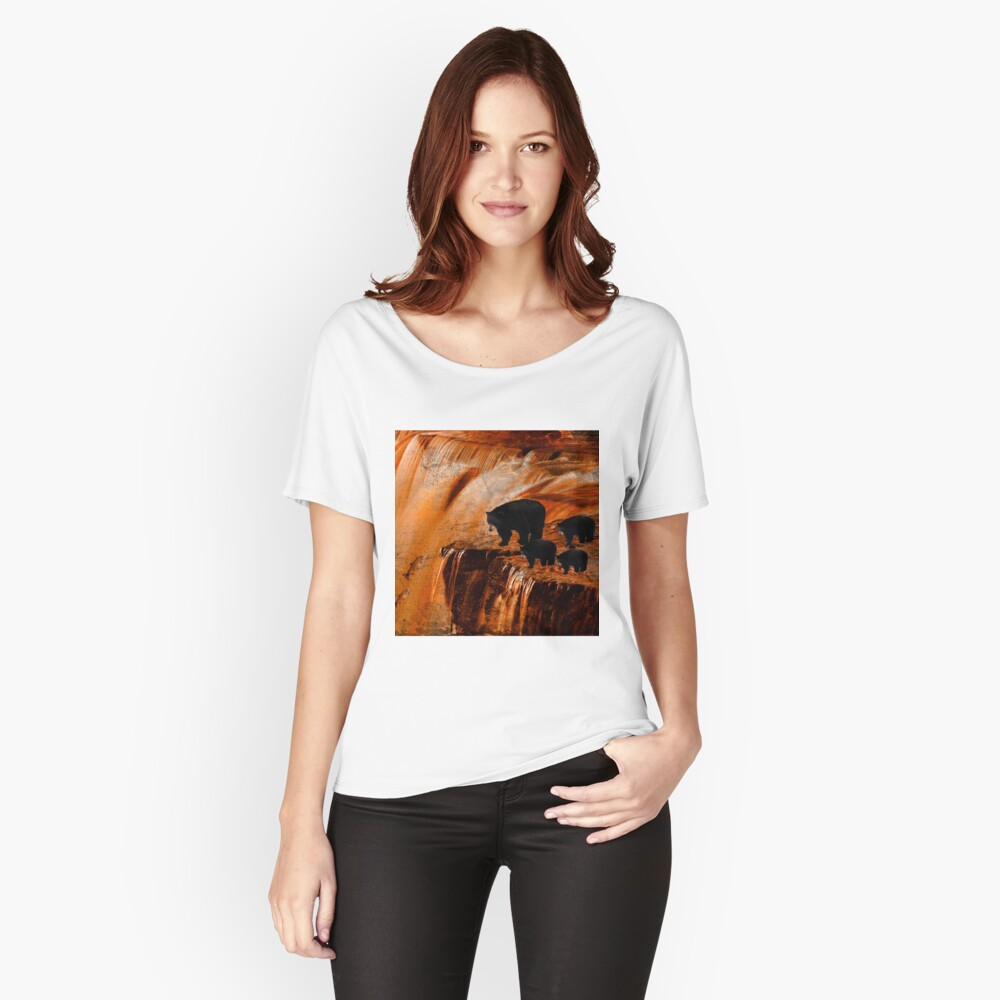 Bears Fishing on a Waterfall Relaxed Fit T-Shirt