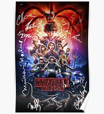 STRANGER THINGS SIGNATURE AUTOGRAPH 2 Poster