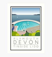 Lido Poster Plymouth Tinside Art Print