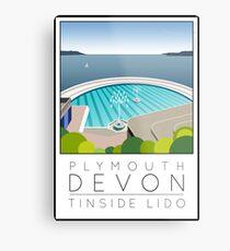 Lido Poster Plymouth Tinside Metal Print