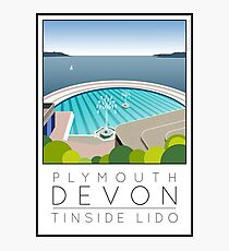 Lido Poster Plymouth Tinside Photographic Print