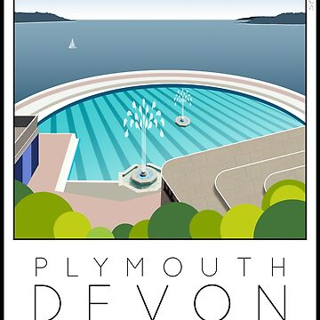 Lido Poster Plymouth Tinside by stevenhouse