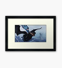 stitchs first flying lesson  Framed Print