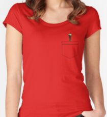 Pocket Uproot Women's Fitted Scoop T-Shirt