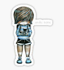Smile Baby Tee Sticker
