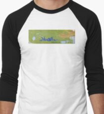 Periwinkle wave by Amelia Caruso Baseball ¾ Sleeve T-Shirt